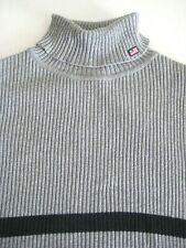 POLO JEANS CO. Ralph Lauren Turtleneck Pullover Sweater Gray 100% Cotton-Size XL