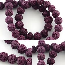 Purple 8mm Lava Bead Diffuser Beads Scent Aromatherapy Essential Oil Jewelry