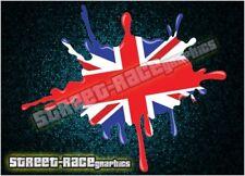 ZMB08 Zombie Union Jack blood splat sticker single printed vinyl decal graphic