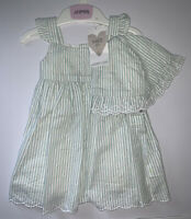 Girls Age 3-6 Months - BNWTS Pretty Summer Dress & Hat Set From M&S