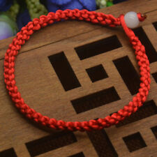 2Pcs Men Women Good Luck Hand Braided Lucky Red String Rope Cord Bracelet Unisex