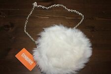 NWT Gymboree Best In Blue Holiday White Fur  Purse Tote