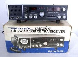 REALISTIC NAVAHO TRC-57 CB AM/SSB TRANSCEIVER BASE 21-157 WITH BOX RADIO SHACK