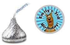 108 SCOOBY DOO PERSONALIZED HERSHEY KISS LABELS STICKERS BIRTHDAY PARTY FAVORS