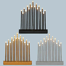 Premier Christmas 29cm Battery Candlebridge 17 LED's - Black, Silver or Gold