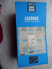 Carte IGN bleue 2045 0 cazeres  1987
