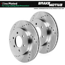 FRONT DRILLED SLOTTED BRAKE ROTORS For 2005 2006 QX56 Armada 2005 - 2007 Titan