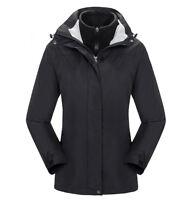 D111 Women Lady Black Ski Snow Snowboard Winter Waterproof Jacket 6 8 10 12 14