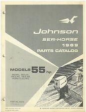 Vintage 1969 Johnson 55 hp  Sea-Horse Outboard Motors Parts Catalog