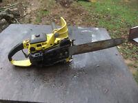 "John Deere 55V Chainsaw with 18 "" Bar. Runs good.."
