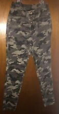 CONTRABAND LITTLE GIRLS SIZE 8 ADORABLE ARMY GREEN CAMO CARGO PANTS/JEANS
