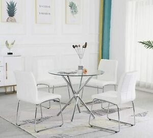 Round Dining Table Set,Modern Kitchen Table and Chairs,Dining Room Table Set