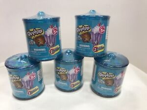SHOPKINS FOOD FAIR BLIND CANISTER Set Of 5 NEW
