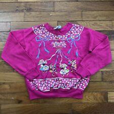 vtg 80s Teddy Bears Maypole Sweatshirt youth girls kids 6X pink kitsch 2d876p