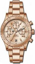 Invicta Specialty 1280 Women's Analog Rose Gold Tone Chronograph Date Watch