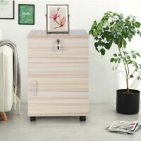 2 Drawers Nightstand Storage Wood End Table Bedside Organizer Modern White