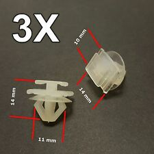3X Peugeot 206, 307 Plastic Trim Clips- for Bumpers, Door Side Mouldings 6995X3