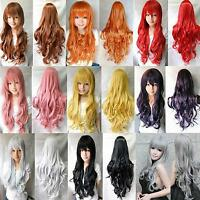"""Hot Fashion Women Long Wavy Curly Hair Anime Cosplay Party Full Wig Wigs 32"""""""