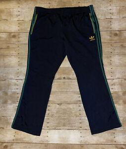Adidas Black Athletic Drawstring Pants Black With Green Stripes (Rasta)Size 2XL