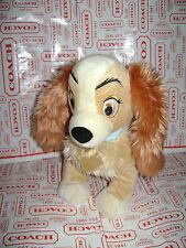"DISNEY STORE LADY & TRAMP DOG PUPPY STUFFED PLUSH BLUE COLLAR CUTE 13"" SOFT&CUTE"