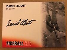 FIREBALL XL5: AUTOGRAPH CARD: DAVID ELLIOTT AS DIRECTOR DE1