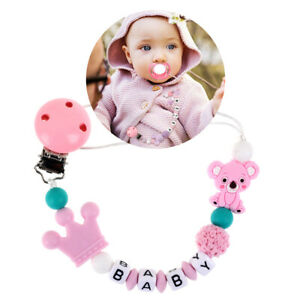 Baby Pacifier Clips Soother Chain Nipple Leash Strap For Infants Silicone Holder
