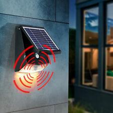 2 LED Solar Wand Strahler Außen Carport Leuchte Lampe PIR Bewegungsmelder Garten