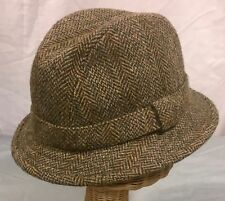 VTG Bates Hatter, London Harris Tweed Walking Hat, Size 6 7/8 - 56cm