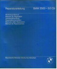 BMW E3 2500 2800 3.0 E9 & 2.8 3.0 CS CSI CSA ORIG. FACTORY WORKSHOP MANUAL SET