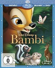 Walt Disney Bambi Diamond Edition Bluray Blu Ray + DVD RARITÄT OVP IN FOLIE !!!