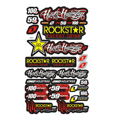 Rockstar Energy Drink Decal Sticker Graphic Kit Motocross Motorcycles Bike NT5C