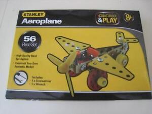 BNIB  STANLEY CONSTRUCT & PLAY AEROPLANE   56 Piece Set