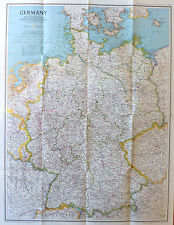 NATIONAL GEOGRAPHIC VINTAGE MAP POSTER 1991 - TRAVELLER'S MAP OF GERMANY EUROPE