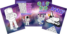 Pack of 12 - Space Fun and Games Activity Sheets - Astronaut Party Bag Fillers