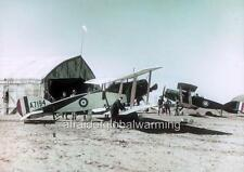 """Photo ca 1917 Palestine """"Airplane - First Squadron Australian Flying Corps"""""""