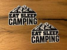 2x Camping Aufkleber Offroad Expedition Camper 4x4 Allrad Urlaub SUV Retro #556