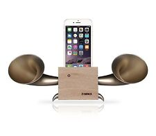 Apple iPhone+Android series Loudspeaker.Docking stand.Horn stand.Wood+Golden