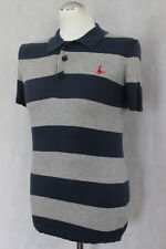 JACK WILLS Mens Striped Knitted WOOL BLEND POLO SHIRT - Size Extra Small - XS