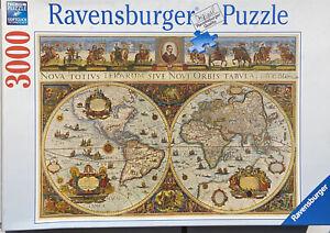 Ravensburger 3000 Piece Premium Jigsaw Puzzle World Map 170548 Soft Click NEW