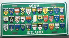 FUN IRISH ALL 32 COUNTIES CRESTS NORTHERN AND SOUTHERN IRELAND LICENSE PLATE