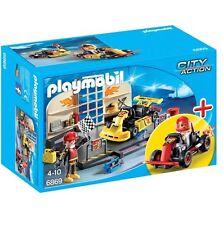 Playmobil 6869 - Go-Kart Garage Starter Set Play Set with Action Figures