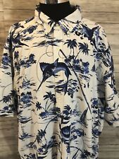 Mens NWT Polo Ralph Lauren  4XL Tall Big Hawaiian Palm Tree Sword Fish 4XLT N21