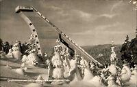 Kanzlersgrund DDR s/w AK 1966 Großschanze am Schützenberg Skisprungschanze