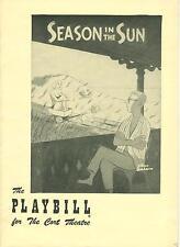 1951 Playbill SEASON IN THE SUN Richard Whorf Nancy Kelly Virginia Mayo ad