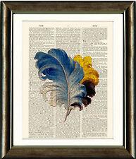 Antiguo Libro Antiguo página Impresión de Arte-Vintage Plumas 4 Diccionario página de impresión