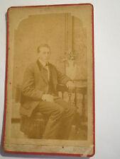 Elgin-Illinois-estados unidos - 1877-sentado hombre del traje-Portrait/CDV
