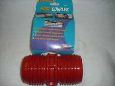 RV - Red Sewer Hose Coupler - No Hose Clamps Needed ! Threads to Sewer Hose