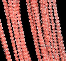 3MM WATERMELON QUARTZ GEMSTONE PINK RED ROUND 3MM LOOSE BEADS 16""
