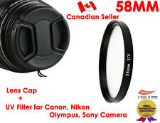 YellowKnife 58MM LENS HOOD + UV FILTER for Canon Rebel XS T1i XTi XSi XT
