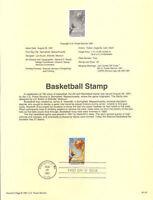 #9137 29c Basketball Stamp #2560 USPS Souvenir Page